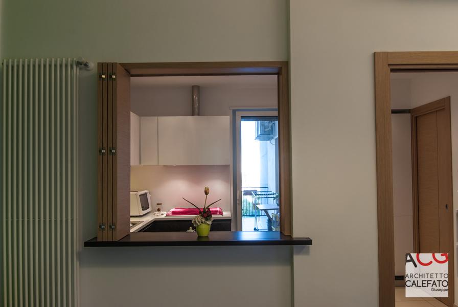finestra tra soggiorno e cucina
